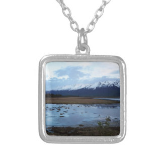 Lake on Maud Road Silver Plated Necklace