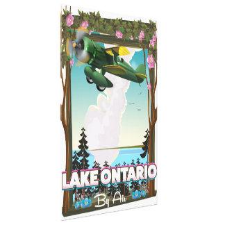 Lake Ontario North American flight poster Canvas Print