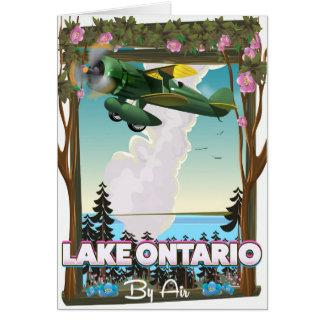 Lake Ontario North American flight poster Card
