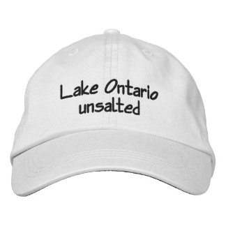 Lake Ontario - unsalted Embroidered Baseball Cap