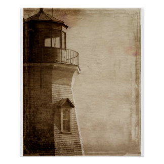 Lake Ontario Vintage Light house photography Poster