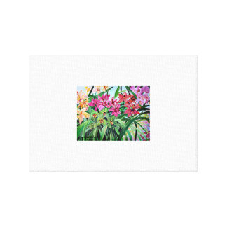 Lake Orchids Canvas Print