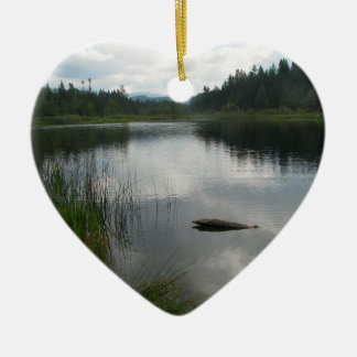 Lake Padden Stillness Ceramic Ornament
