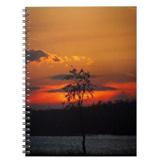Lake Paradise sunset notebook