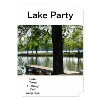 "Lake Party Fishing Picnic Barbecue Family Reunion 5"" X 7"" Invitation Card"