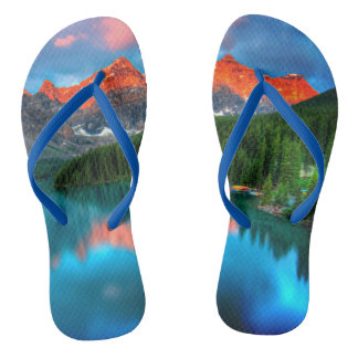 Lake Peaks Custom Flip Flops Thongs Jandals Slops