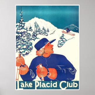 Lake Placid Club,Ski Poster