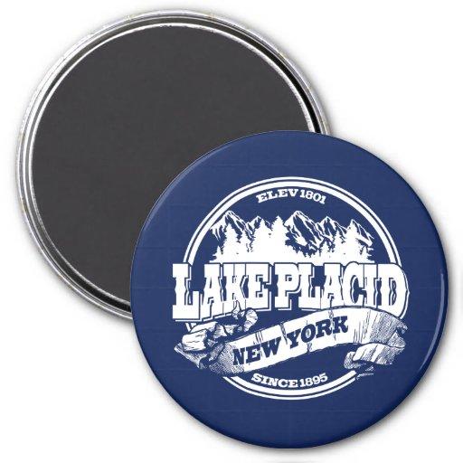 Lake Placid Old Circle Blue Fridge Magnets