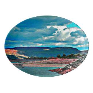 Lake Pleasant Boat Ramp Porcelain Platter