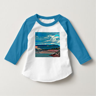 Lake Pleasant Boat Ramp Toddler Raglan Tee Shirt