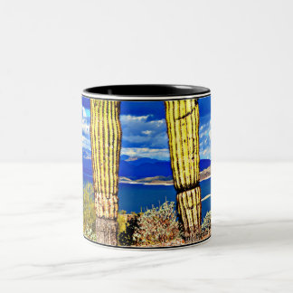 Lake Pleasant Saguaro Pillars Coffee Mug