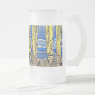 Lake Pleasant Saguaro Pillars Frosted Mug