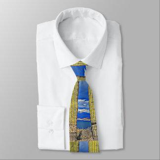 Lake Pleasant Saguaro Pillars Men'sTie Tie