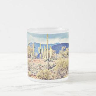 Lake Pleasant Saguaros/Mountains Frosted Mug