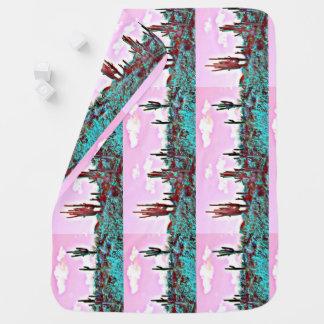 Lake Pleasant Turquoise Saguaros Baby Blanket
