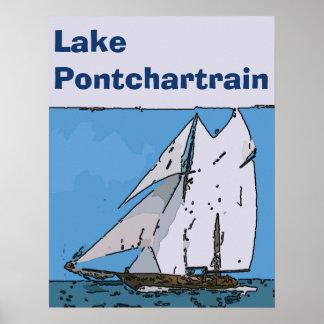 Lake Pontchartrain , New Orleans Art,edit text Poster