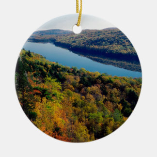 Lake Porcupine Mountains Ceramic Ornament