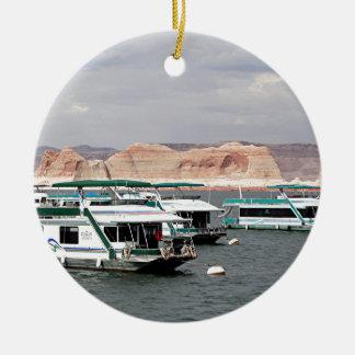 Lake Powell Houseboat, Arizona, USA 4 Ceramic Ornament
