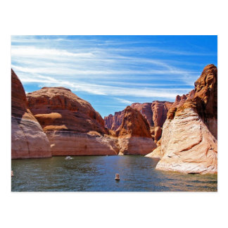 Lake Powell Page Arizona Water Reservoir Landscape Postcard