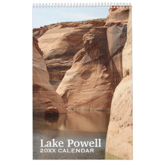 Lake Powell Travel Photography Souvenir Wall Calendar