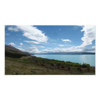 Lake Pukaki, Southern Alps New Zealand Photo