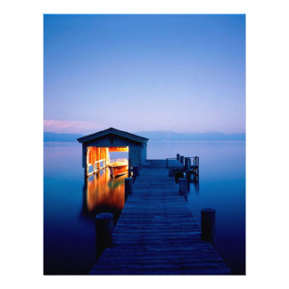 Lake Quiet Getaway Tahoe Nevada Personalized Letterhead