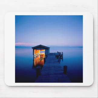 Lake Quiet Getaway Tahoe Nevada Mousepads