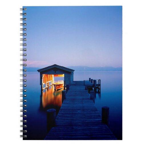 Lake Quiet Getaway Tahoe Nevada Notebook