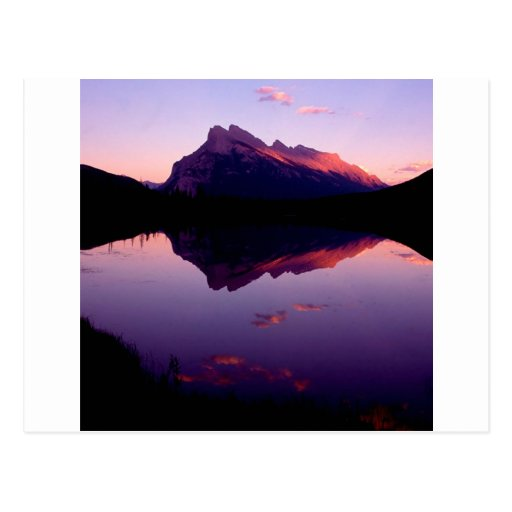 Lake Rundle Park Canadian Rockies Post Card
