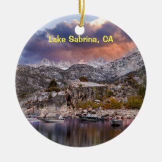 Lake Sabrina, California Ceramic Ornament