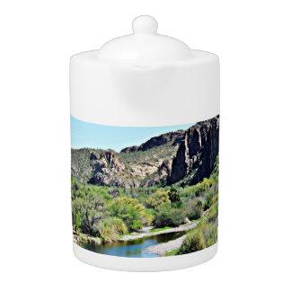 Lake Saguaro Tea Pot