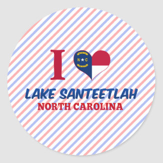 Lake Santeetlah, North Carolina Classic Round Sticker