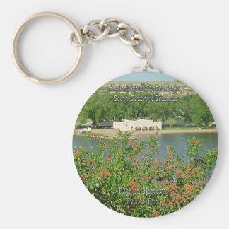Lake Scott-2 Basic Round Button Keychain