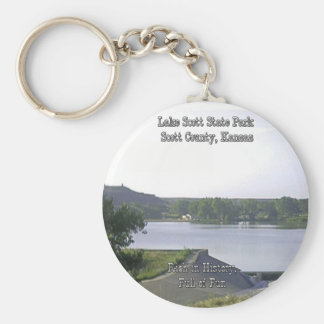 Lake Scott State Park-3 Basic Round Button Keychain