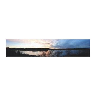 Lake Scott State Park Kansas Panoramic Stretched Canvas Prints