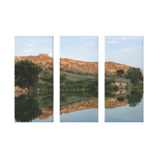 Lake Scott State Park - Reflection Wrapped Canvas Gallery Wrapped Canvas