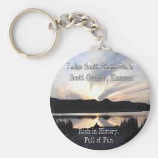 Lake Scott Sunset Keychain