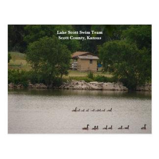 Lake Scott Swim Team Scott County Kansas Postcards
