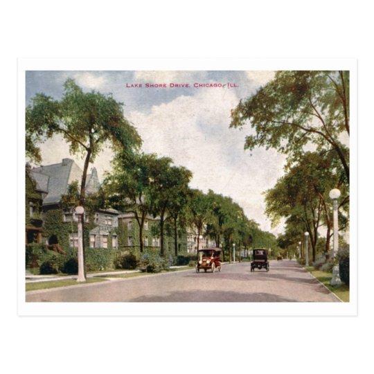 Lake Shore Drive, Chicago 1914 Vintage Postcard