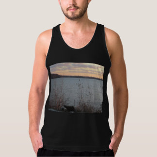 Lake Shore Sunset Mens Tank Top
