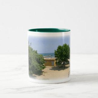 Lake Shores Getaway with White Matte Coffee Mug