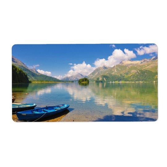 Lake Sils, in Graubünden, Swizerland