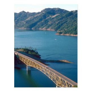 Lake Sonoma aerial photograph Postcard