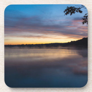 Lake Springfield Autumn Sunrise Coaster