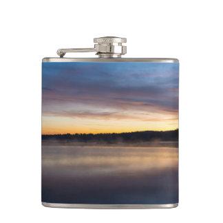 Lake Springfield Autumn Sunrise Hip Flask