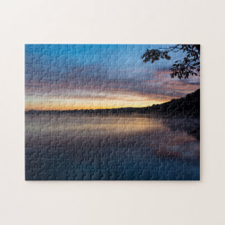 Lake Springfield Autumn Sunrise Jigsaw Puzzle