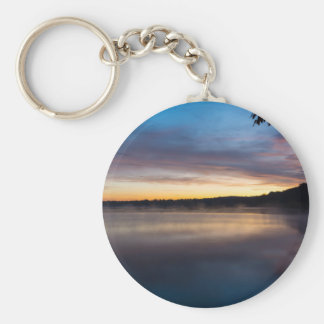 Lake Springfield Autumn Sunrise Keychain