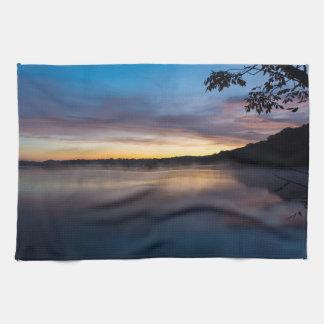 Lake Springfield Autumn Sunrise Kitchen Towel