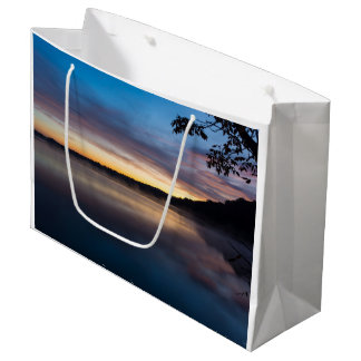 Lake Springfield Autumn Sunrise Large Gift Bag