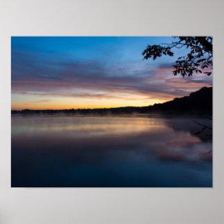 Lake Springfield Autumn Sunrise Poster